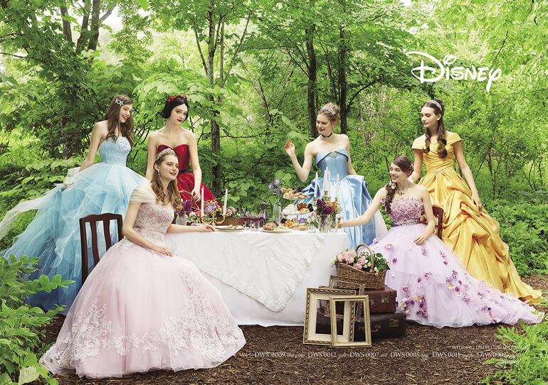 ドレスサロン【ルフレ・ロゼ】にディズニー ウェディングドレスコレクションがついに入荷♪